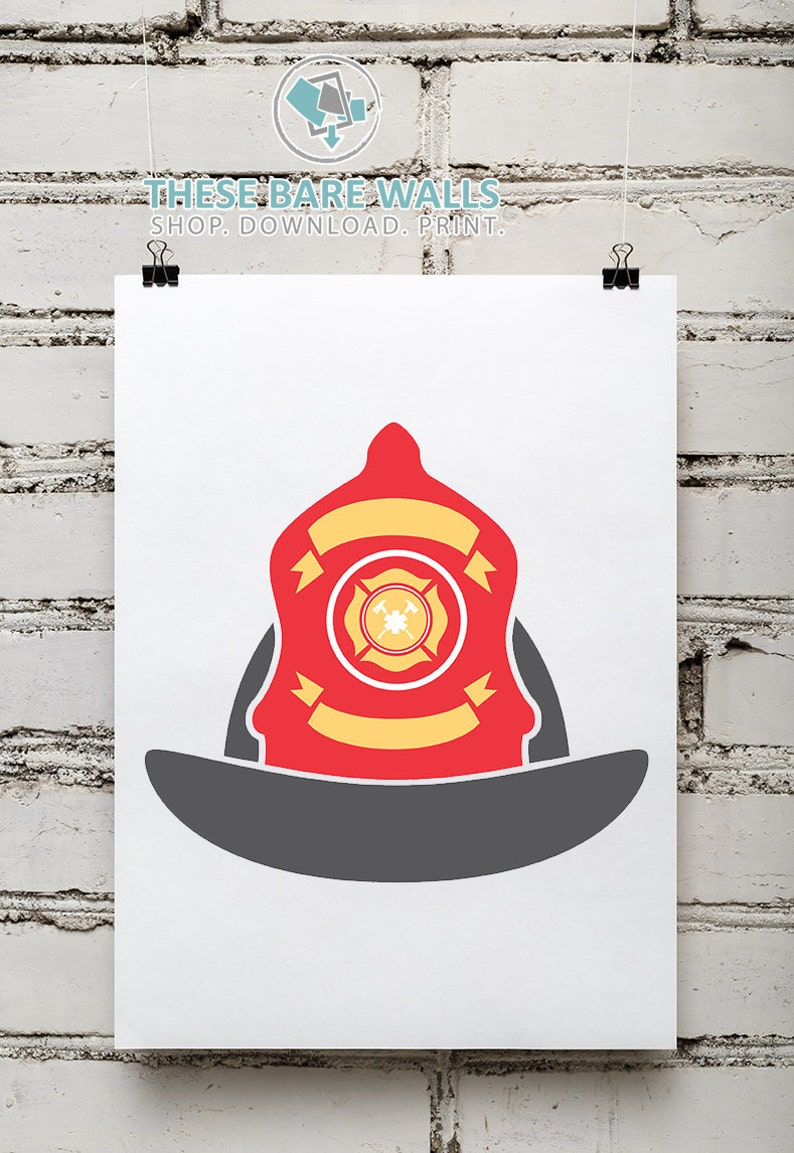 Pleasing Printable Wall Art Fire Department Prints Fireman Helmet Fireman Decor Fire Hat Fireman Hat Fire Fighter Helmet Fireman Decor Download Free Architecture Designs Scobabritishbridgeorg