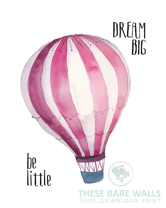 picture relating to Printable Hot Air Balloon identify Be Minimal Desire Significant Print - Purple, Warm Air Balloon Print, Nursery Prints, Be very little printable, aspiration substantial printable, warm air balloon decor