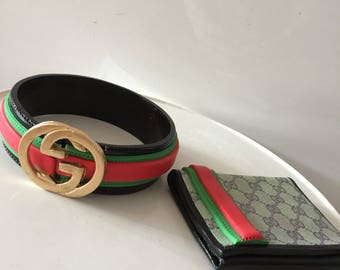 4a5c784b7540 Cake decoration sugar pieces Men's Gucci belt and wallet sugar edible cake  toppers decoration