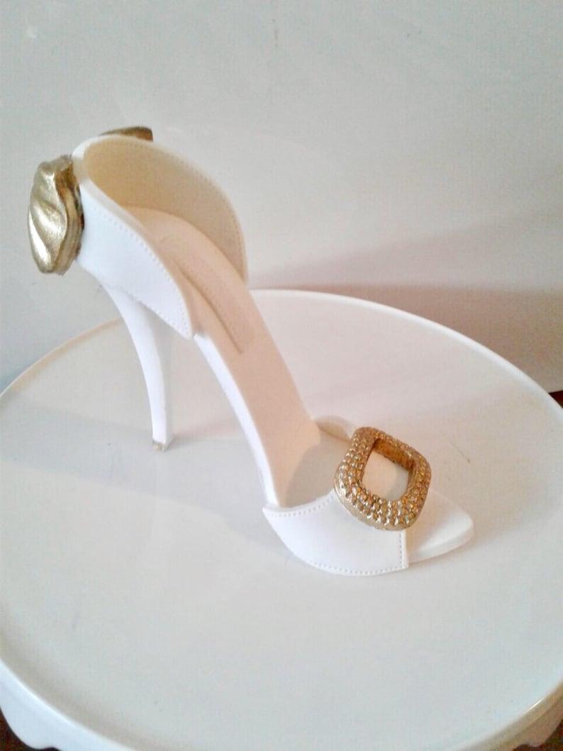 Sugar gumpaste high heel shoe cake topper