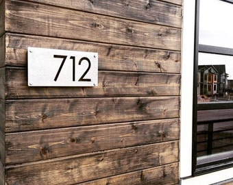 """12"""" Custom House Number Sign - Address Sign - Address Numbers - Personalized Gift - House Number Plaque - Modern House Number"""