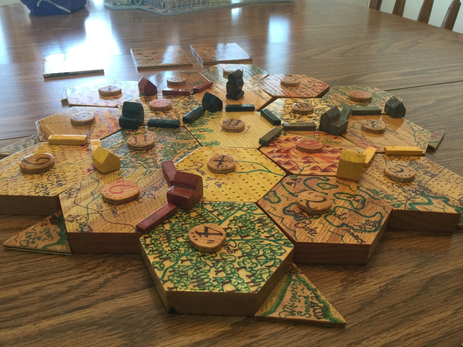 Customized Wooden Settlers Of Catan 3 4 Player Base Game