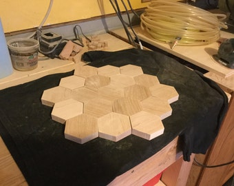 Blank wood hexagon(s) for other board games