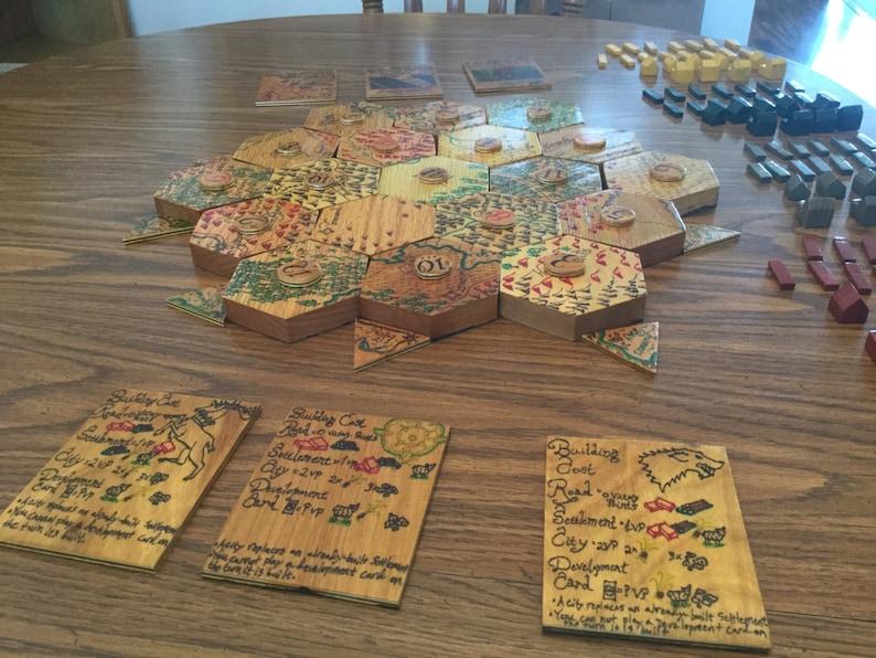 Maßgeschneiderte Holz Siedler von Catan 3-4 Spieler | Etsy