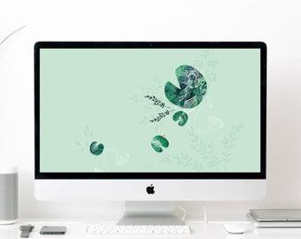 Ondine se dandine - Fond d'écran large