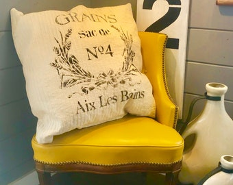 Huge 36 inch hand made and painted throw pillow home decor shabby chic