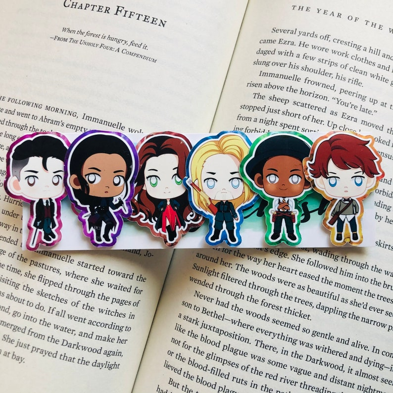 Six of Crows Inspired  Magnetic Bookmarks image 0