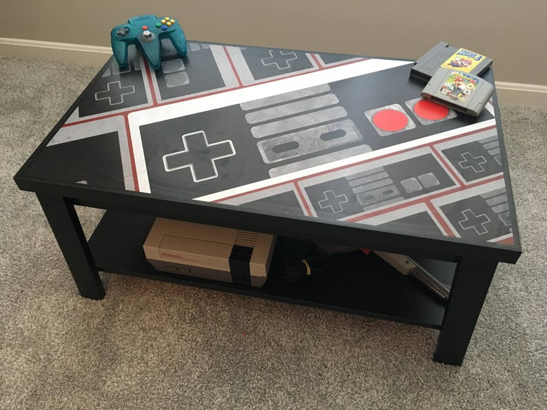 Nintendo NES Controller Custom Retro Video Game Coffee Table V2