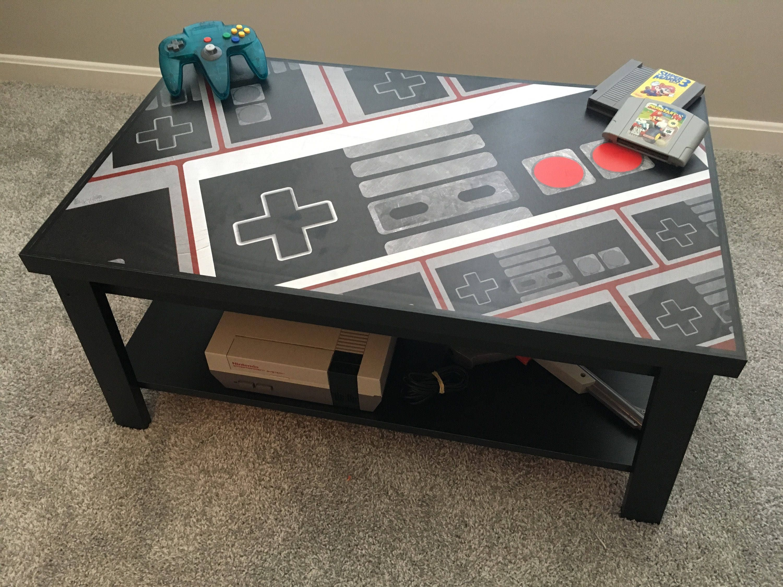 Gaming Coffee Table.Nintendo Nes Controller Custom Retro Video Game Coffee Table V2