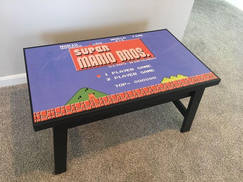 Super Mario Bros 8 Bit Videogame Nintendo NES Coffee Table image 0