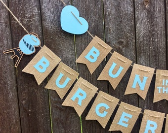 Bun In The Oven Burgers On The Grill Gender Reveal Banner | Etsy