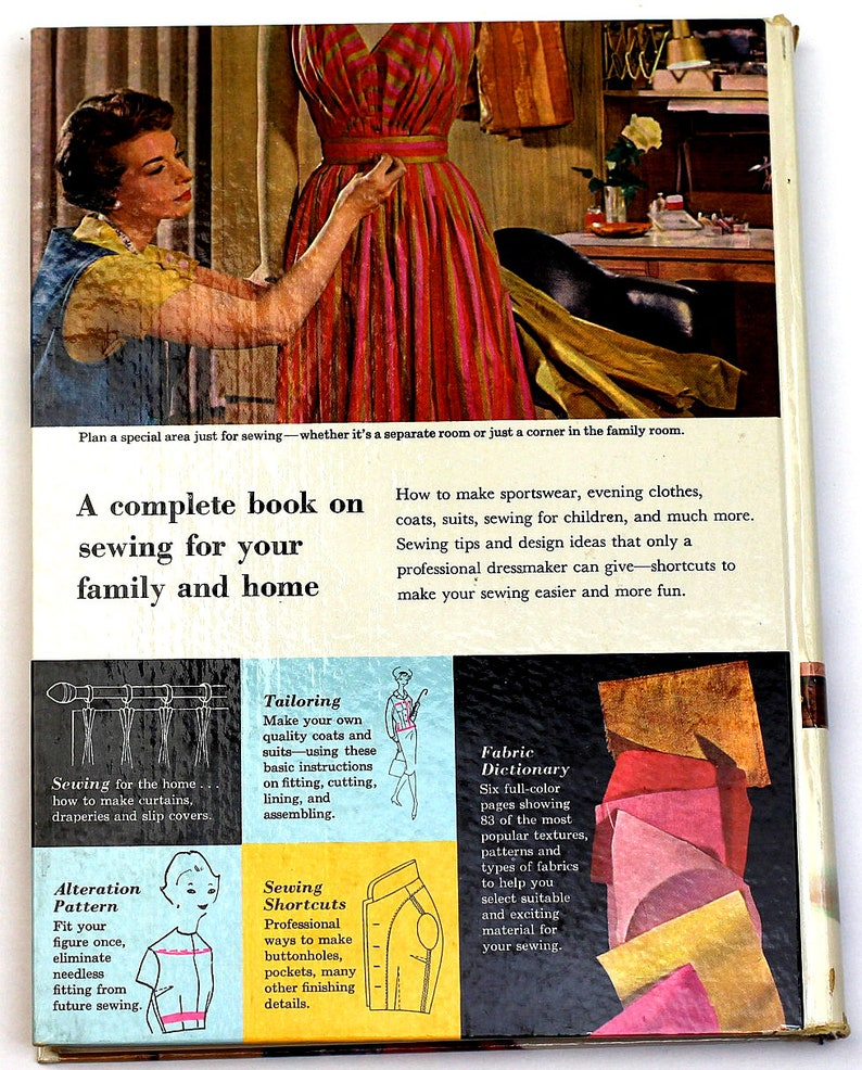1961 Vintage Sewing Book Mid Century Sewing Book Better Homes /& Gardens Sewing Book