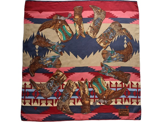 Vintage POLO Ralph Lauren Silk Scarf, Authentic Wo