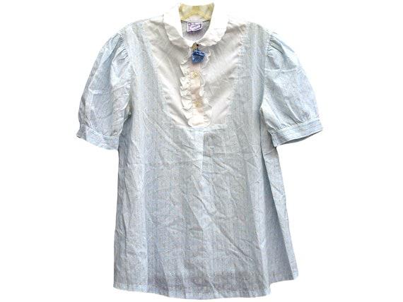 50s Vintage Maternity Blouse, Maternity Shirt, Mat