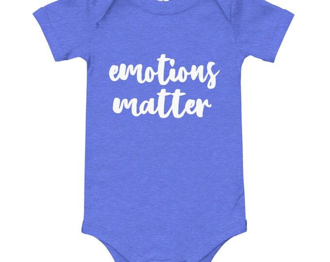 Emotions matter onesie