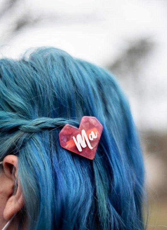 Ma hair clip dark pink