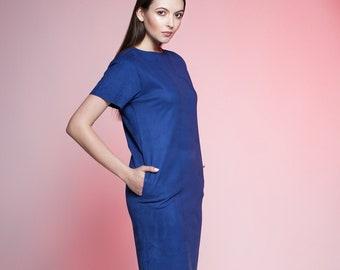 Faux suede dress by ARTFUR. 14 colors available.