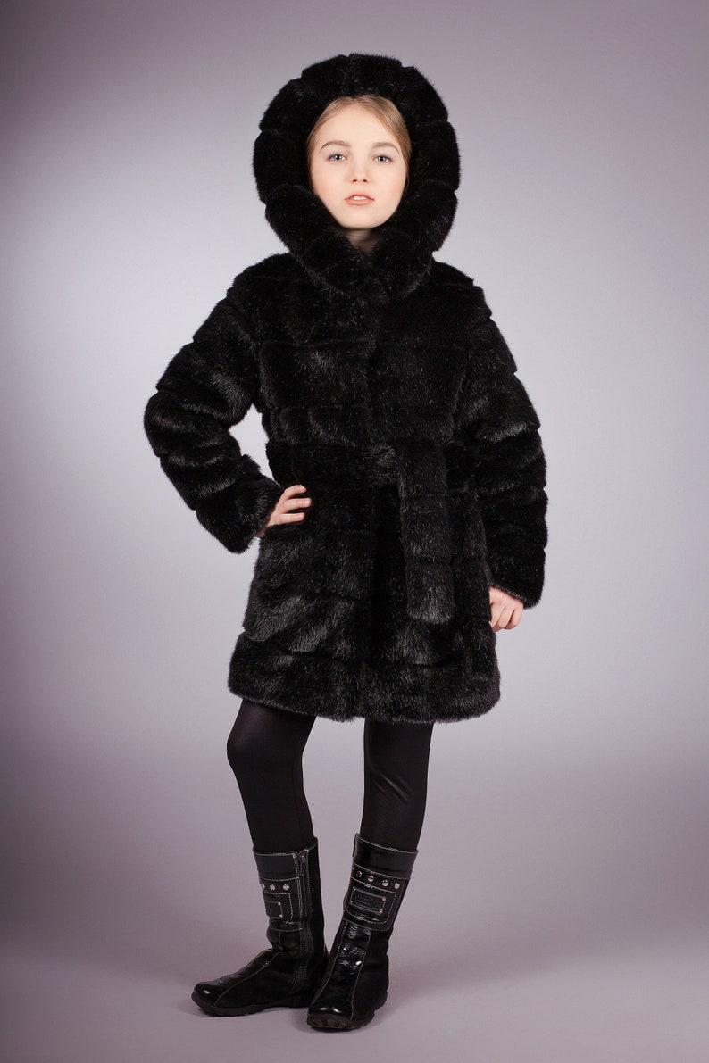 022ab5ab4 Kids coat. Fur kids coat. Winter kids coat. Gift for children. | Etsy