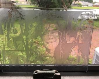 Janice on glass