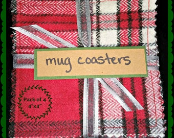 Flannel Coasters - set of 4