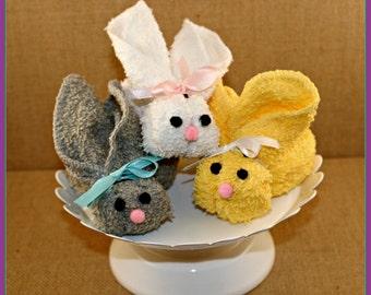 boo boo bunny - washcloth bunny