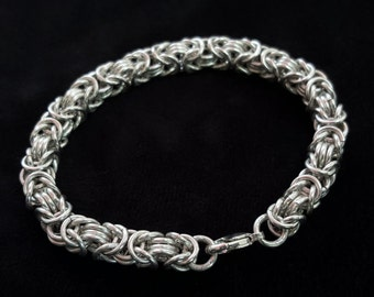 Byzantine Style Chainmaille Bracelet Sterling Silver .925