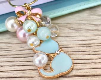 Tiffany cat planner charm / bookmark