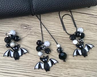 How Cute is Bat Halloween planner charm, bookmark, phone charm