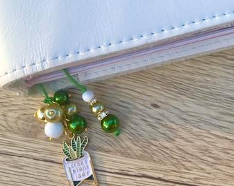 Crazy plant lady planner charm, keychain, phone charm, bookmark, zipper pull