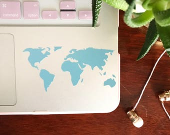 World Map: Removable Vinyl Decal