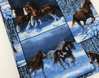 83781f7e32d Wild Wings Horses Fabric, Running Horses, Fabric, Quilting Fabric, Fabric  by the Yard, Apparel Fabric, Fat Quarter, 100% Cotton