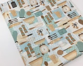 Cooking and Baking Fabric, Kitchen and Food, Fabric by the yard, Fat Quarter, Quilting Fabric, Apparel Fabric, 100 Cotton,R8-14