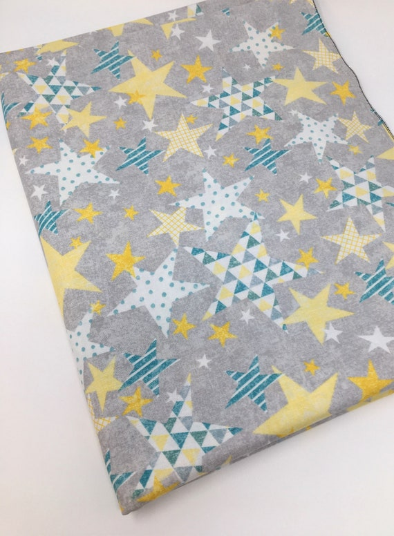 Small Stars Patchwork Quilting and Craft Star Fabric,100/% Cotton FREE UK P/&P