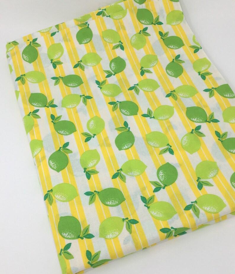 Lemon Floral Cotton Fabric Fat Quarter Navy