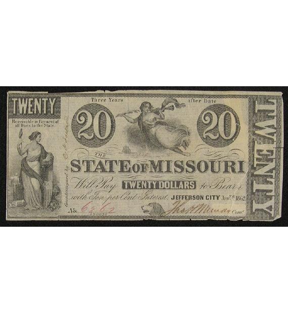 Battle of Wilson's Creek – Missouri Currency - Civil War Relics