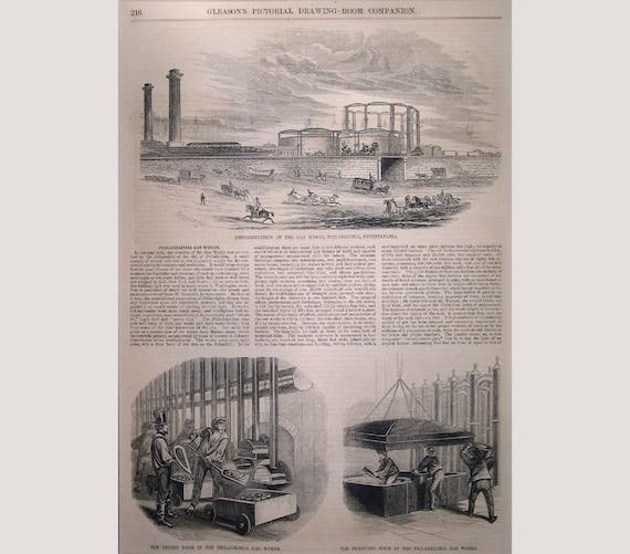 Philadelphia Gas Works Pennsylvania 1853 Etsy