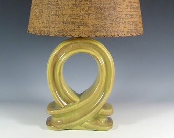 gonder for bradley mid century lamp pistachio glaze - Mid Century Lamp