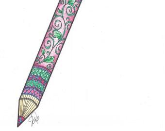 Pencil coloring page!
