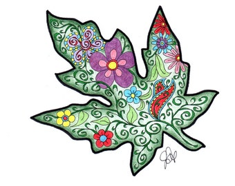 Leaf Coloring Page!