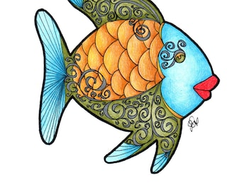 Fish Coloring Page!