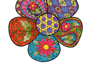Flower Coloring Page!