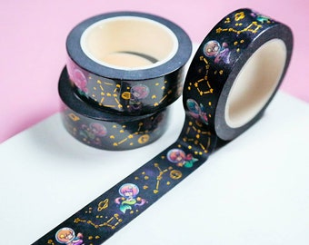 Space Mermaids Foiled Washi Tape