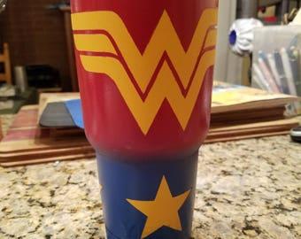 Wonder Woman Themed Tumbler