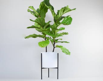 The Naramata - Mid Century Plant Stand Steel