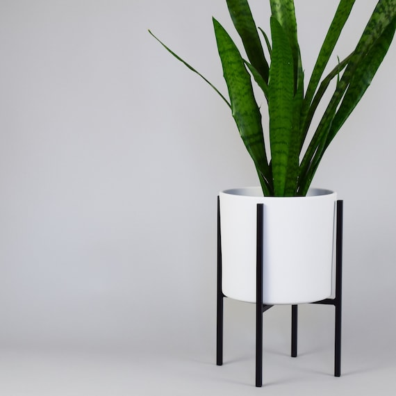 Image 0 Mid Century Modern Metal Plant Stand E91