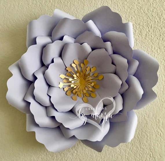 SVG Flower Template 79 DIY Paper Flowers Paper Flower Etsy