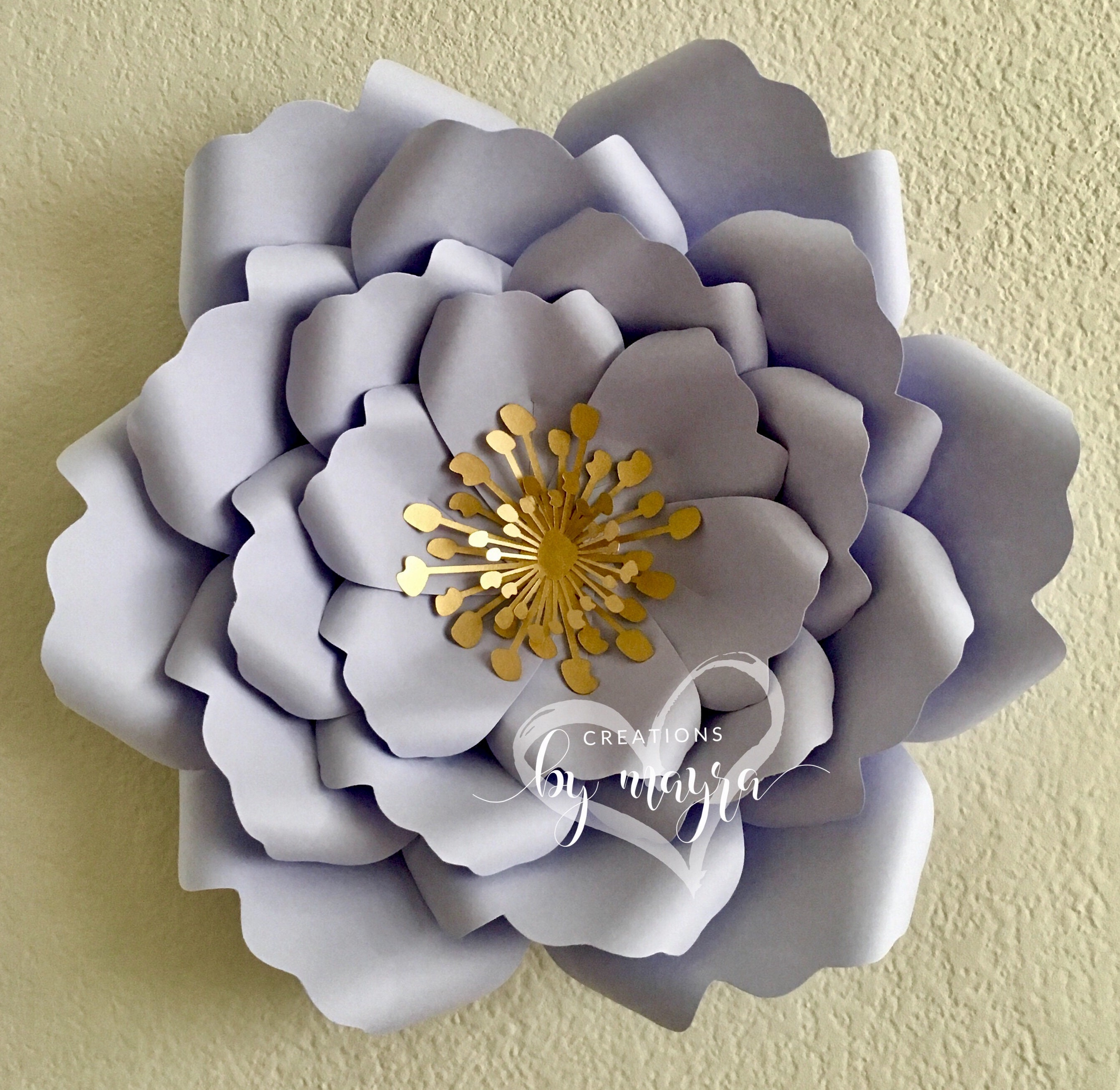 Svg Flower Template 79 Diy Paper Flowers Paper Flower Etsy