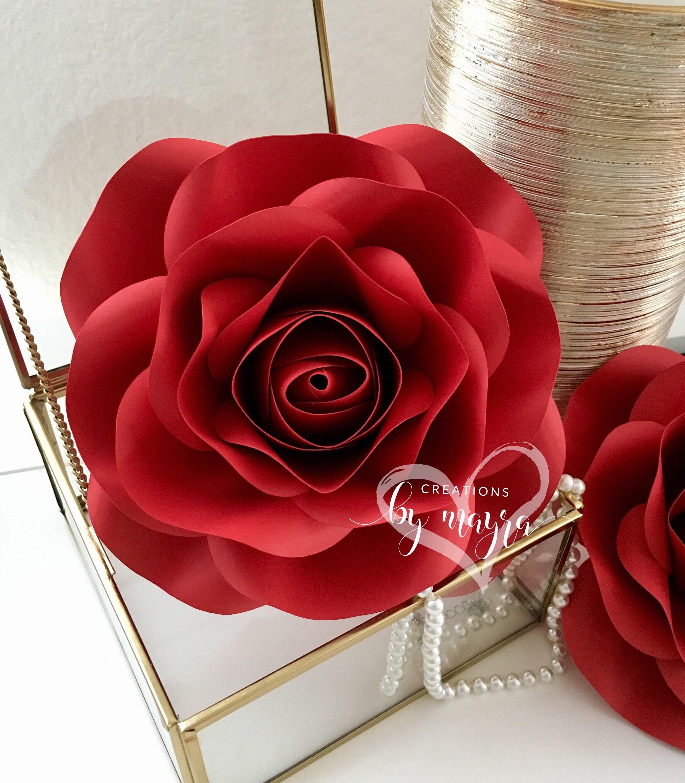 Pdf Mini Rose Template 7 Diy Paper Roses Paper Flowers Etsy