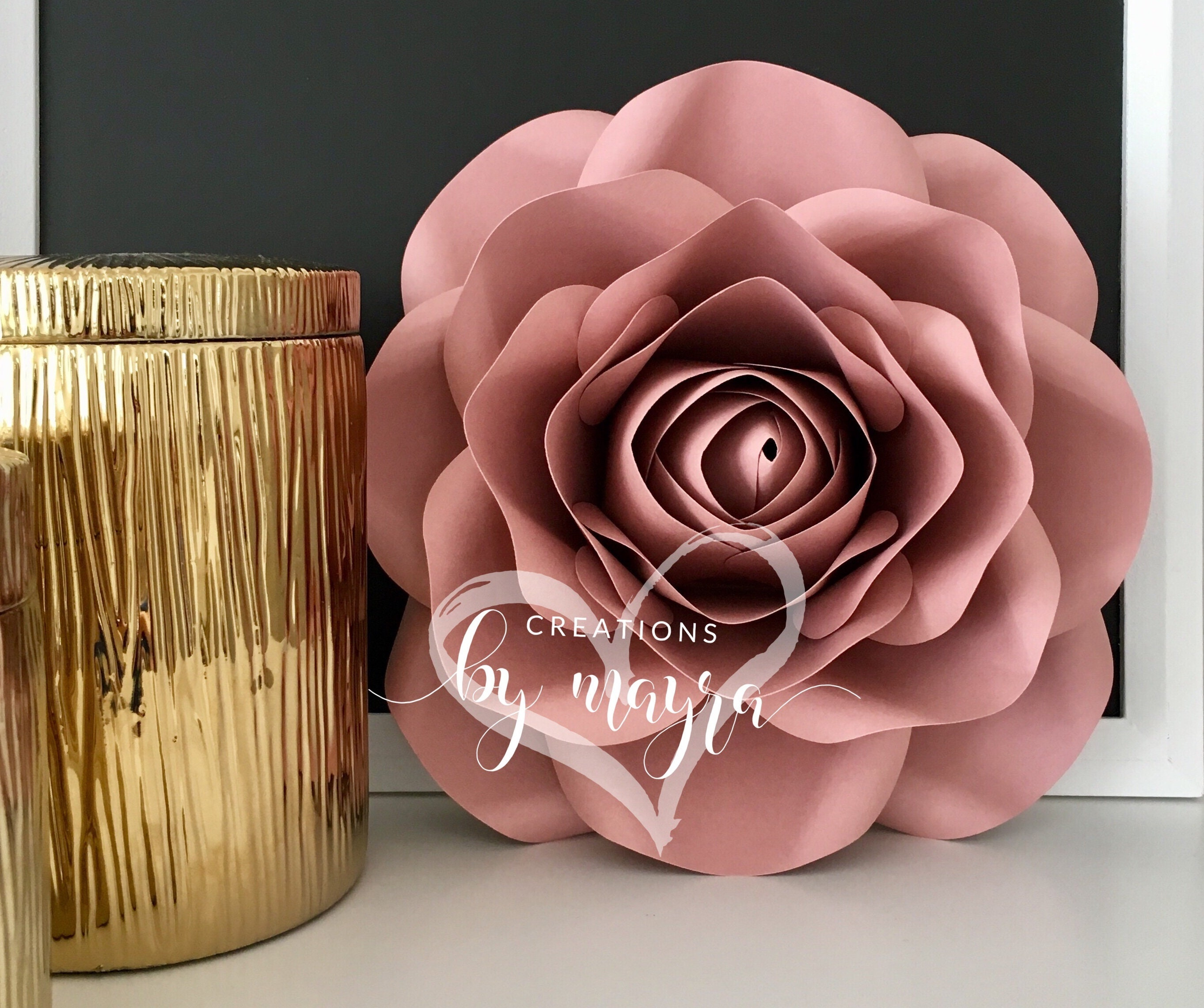 Pdf Small Rose Template 11 Diy Paper Roses Paper Flowers Etsy