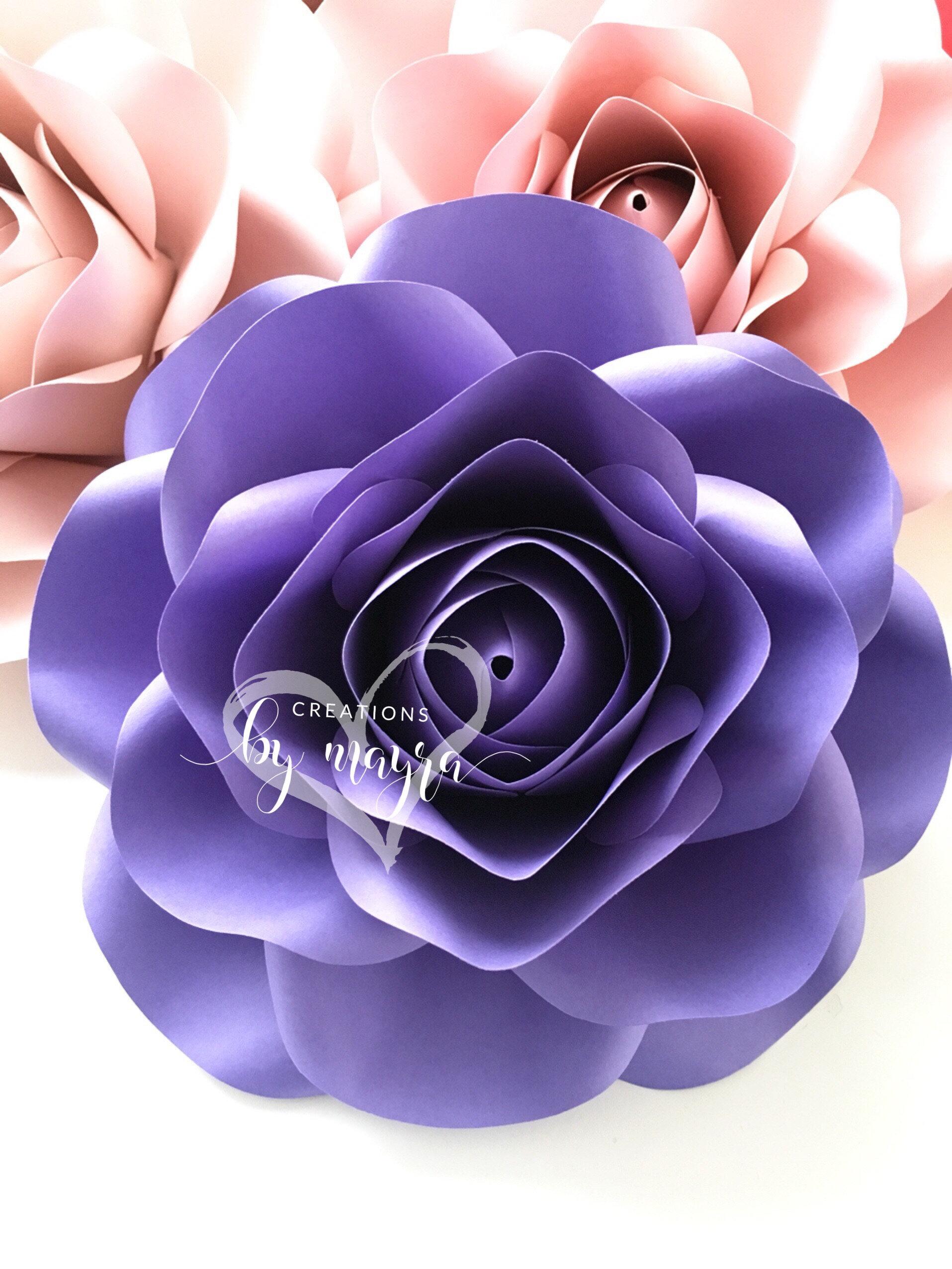 Pdf Xs Rose Template 9 Diy Paper Roses Paper Flowers Etsy